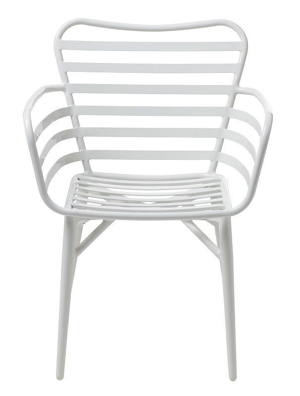 Rio  Havestol - Hvid - Havestol i hvid aluminium