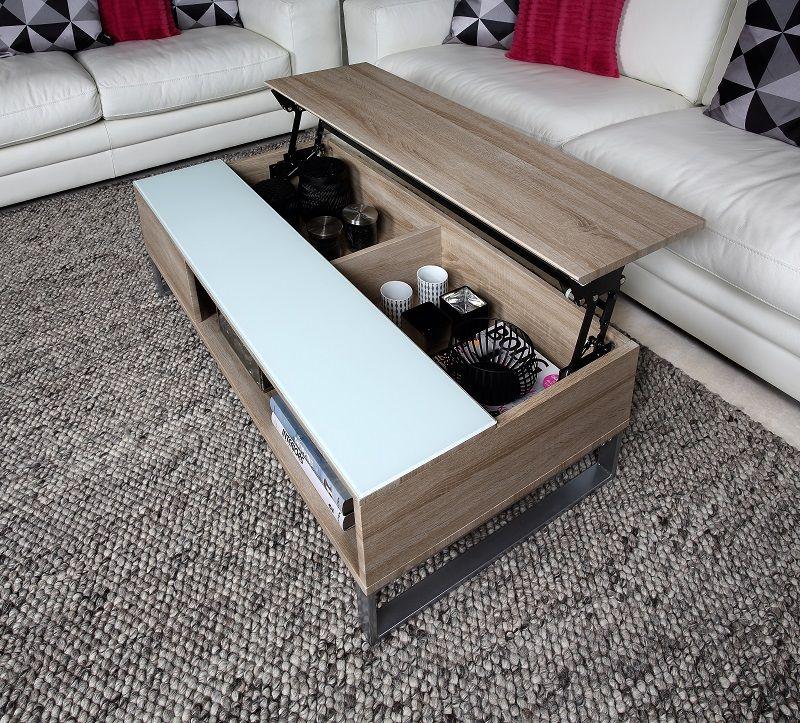 Rody Sofabord 110x60 - 5 mm melamin sonoma eg - Sofabord med hejs