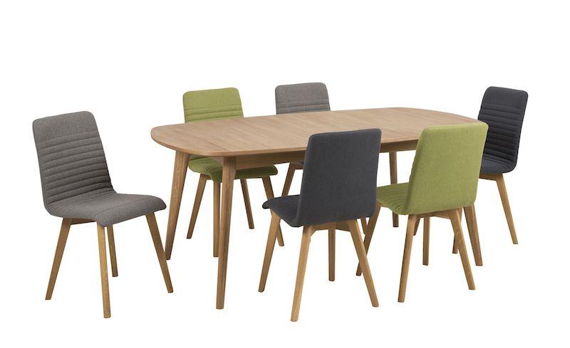 Rosa Spisebordsstol - Lysegrå - Spisebordsstol i lys grå