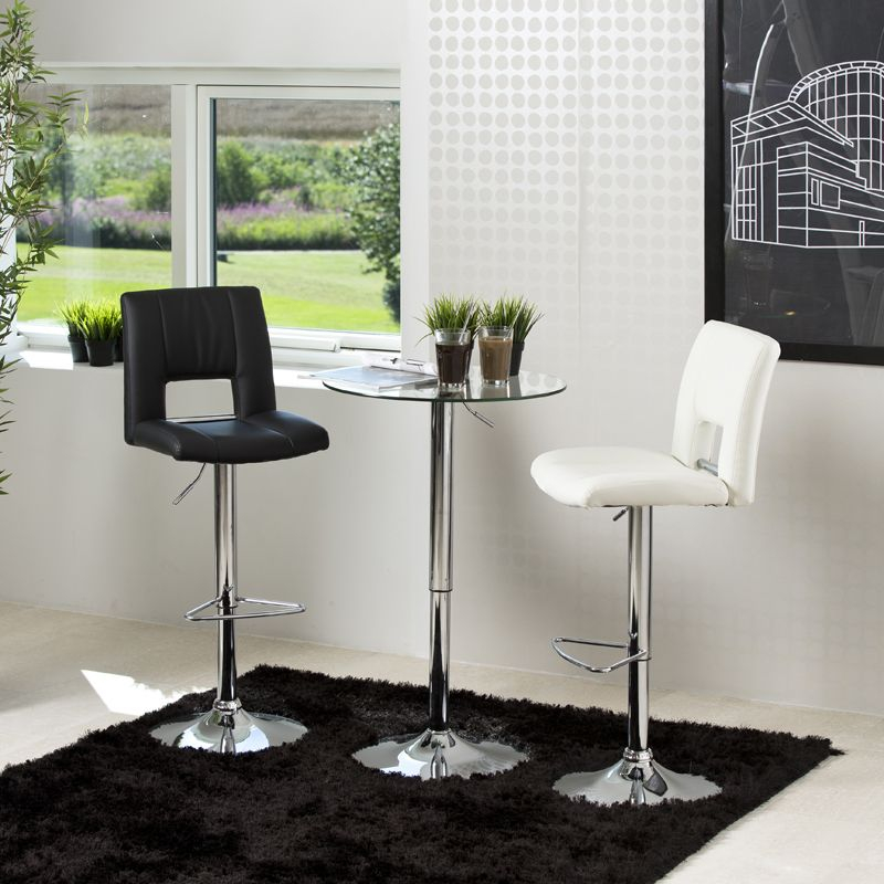 Rover Barbord - Glas - Barbord m. bordplade i glas og hæve/sænke funktion