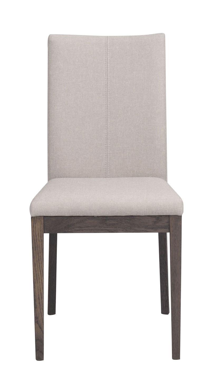 Amanda Spisebordsstol beige, Røget eg