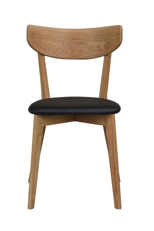 Ami Spisebordsstol - Eg - Spisebordsstol med sort sæde