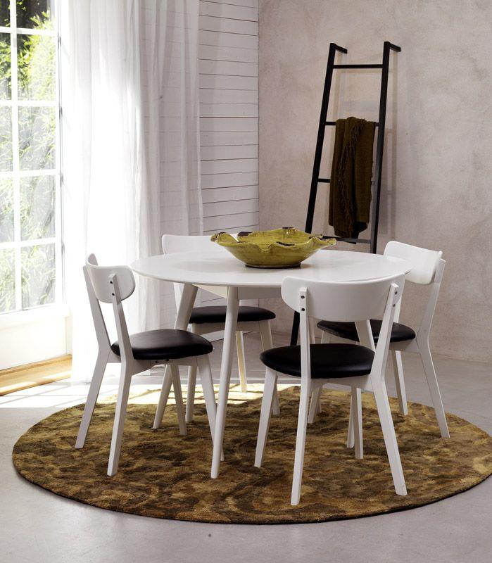 Vega Spisebordsstol - Sort m. Sort PU sæde - Enkel og stilren stol i sort