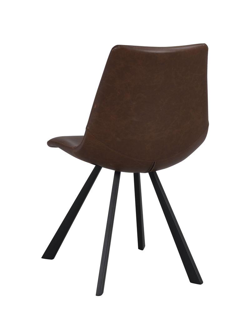 Auburn Spisebordsstol, mørk brun PU