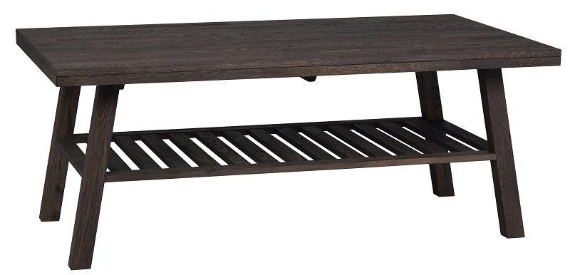 Brooklyn Sofabord - børstet eg - 130x75 - Bejdset sofabord