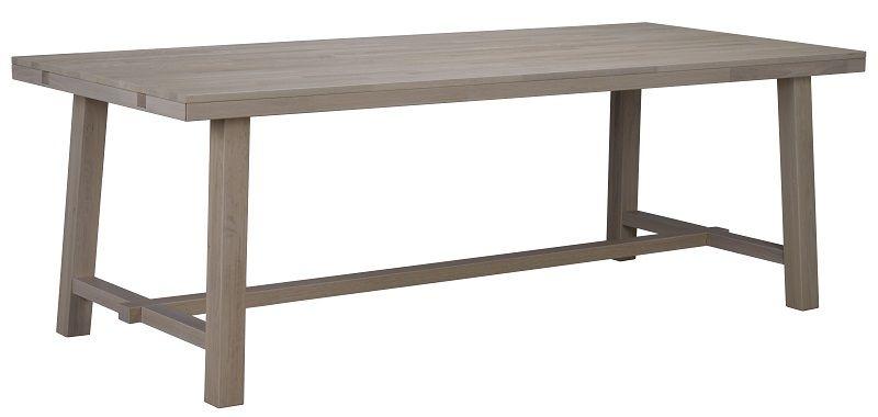 Albany Spisebord - hvidvasket eg - 220x95 - Hvidvasket spisebord 220 x 95 cm