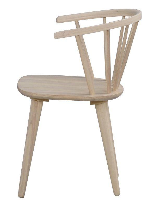 Carmen Spisebordsstol - Lystræ - Spisebordsstol i hvidvasket træ