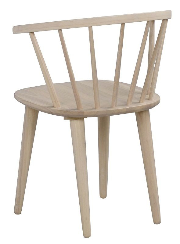 Ria Spisebordsstol - Lystræ - Spisebordsstol i hvidvasket træ