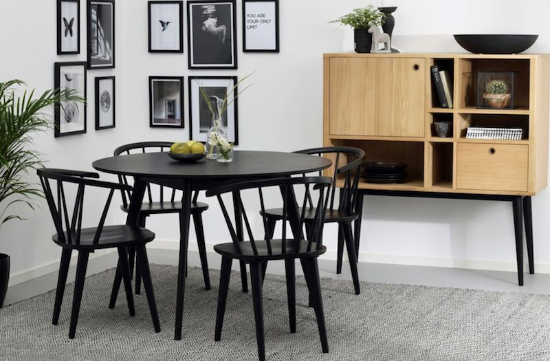 Carmen Spisebordsstol - Sort - Sort spisebordsstol