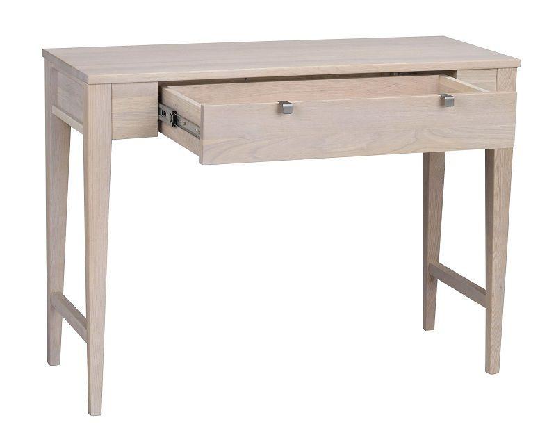 Confetti Konsolbord - Hvidvasket ege finér - Lakeret konsolbord med skuffe