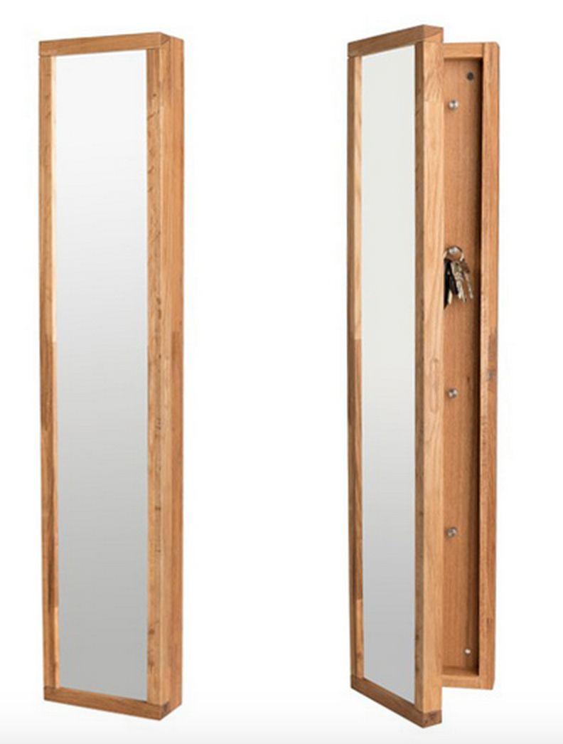 Confetti Nøgleskab - Lystræ - Nøgleskab med spejl