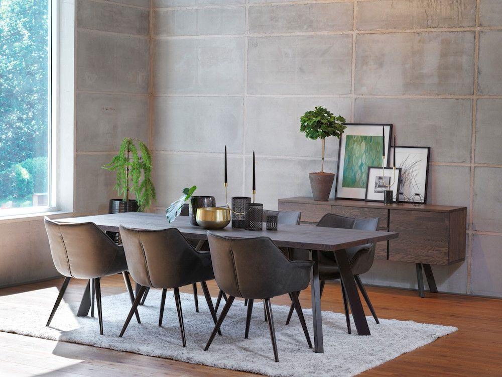 Echo Spisebordsstol - mørkegrå, sort