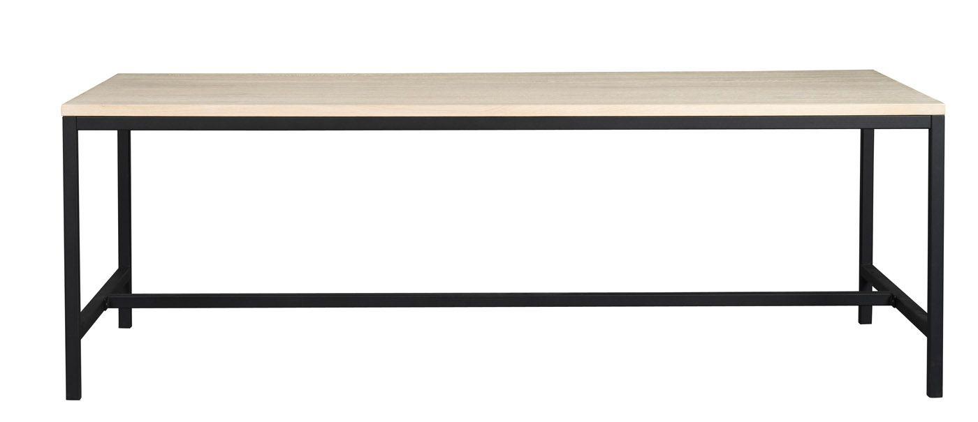 Everett Spisebord 220x100 - Eg/Sort
