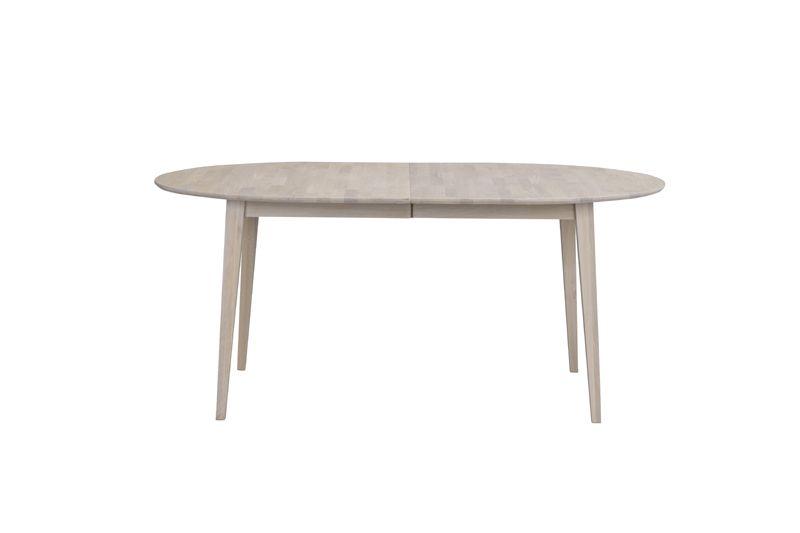 Filippa Ovalt Spisebord, hvidpigment eg, 170x105