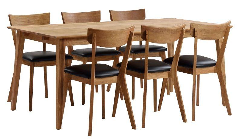 Gabriella Spisebord - eg 180x90 - Spisebord i egetræ