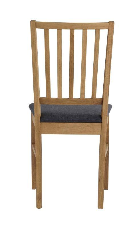 Gabriella Spisebordsstol - Lystræ - Spisebordsstol i egetræ med gråt sæde