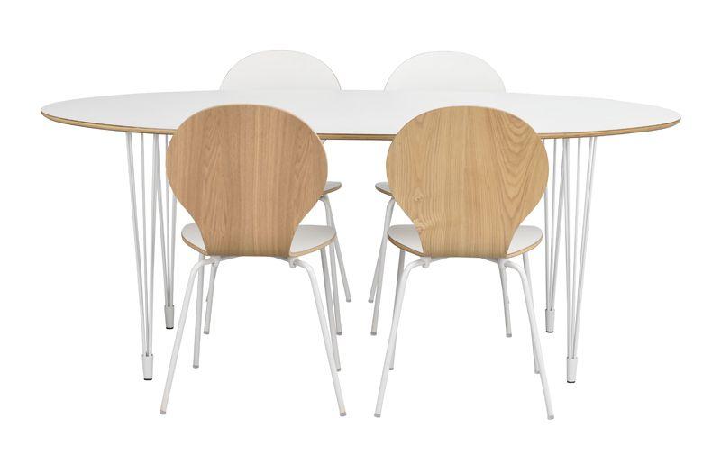 Fusion Spisebordsstol, hvid højtrykslaminat
