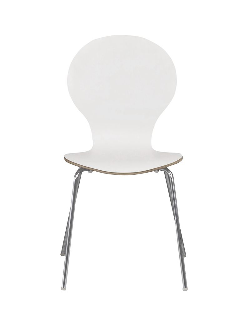 Fusion Spisebordsstol - Hvid lamineret krydsfinér