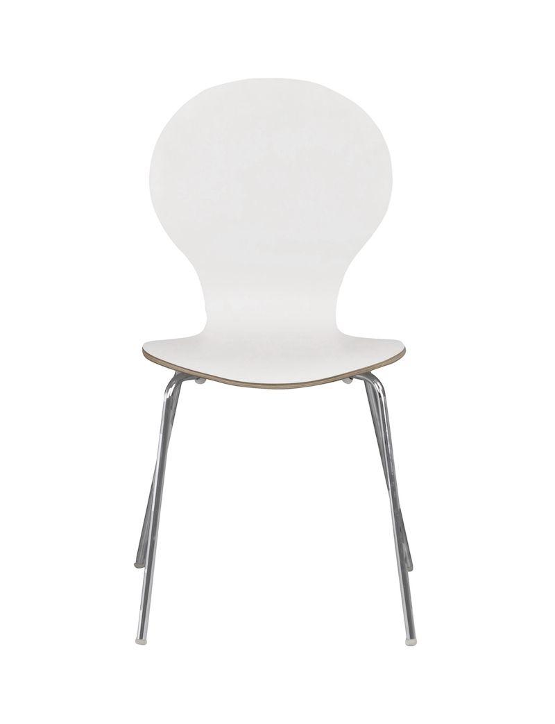 Bubble Spisebordsstol - Hvid lamineret krydsfinér