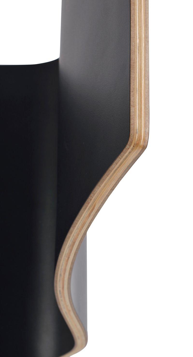 Grace Spisebordsstol, Sort, Hvide ben - Spisebordsstol med sort sæde