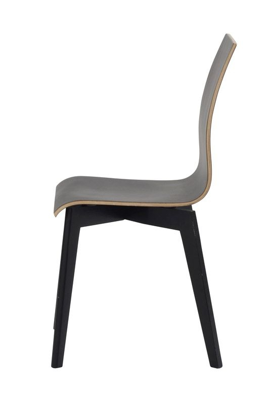 Grace Spisebordsstol, Sort, sorte ben - Sort spisebordsstol med sortbejdsede ben