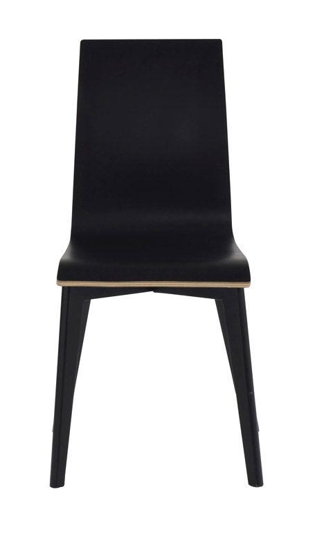 Trend Spisebordsstol - Sort m. sorte ben - Sort spisebordsstol med sortbejdsede ben