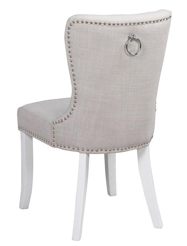 Ina Spisebordsstol - Offwhite - Polstret spisebordsstol