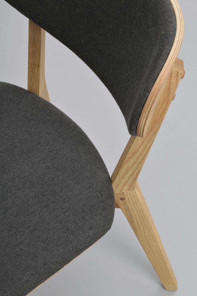 Kato Spisebordsstol eg, Mørk grå sæde