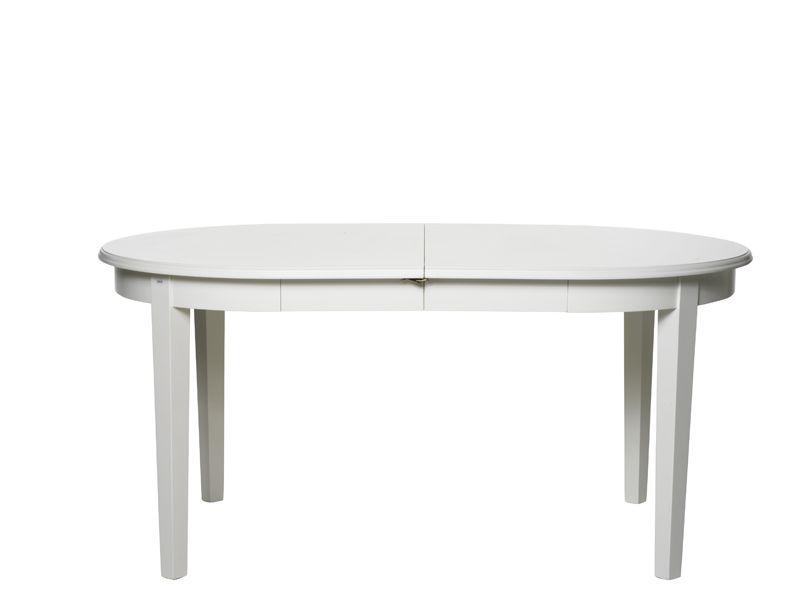 Koster Spisebord, udtræk, oval, Hvid