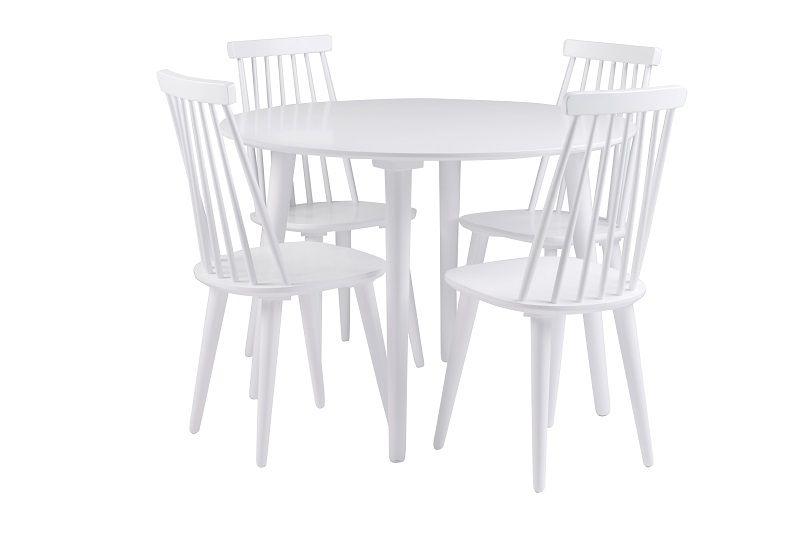 Otto Spisebord - Hvid - Rundt spisebord i hvid