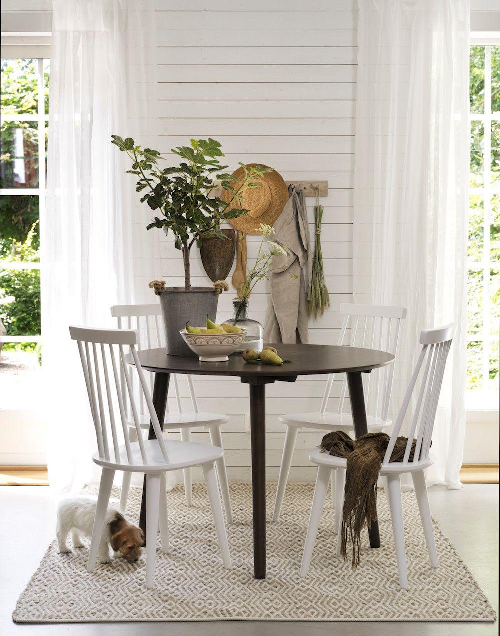 Lotta Tremmestol - Hvid lakeret træ - Klassisk tremmestol