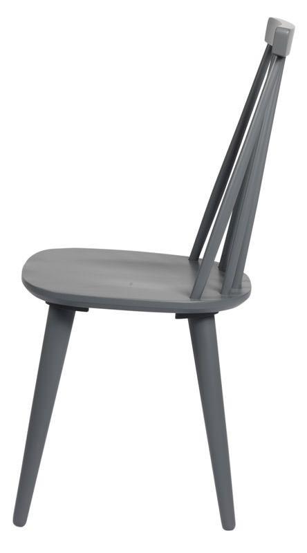 Otto Spisebordsstol - Mørk Grå lakeret træ - Klassisk tremmestol