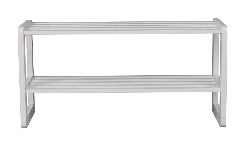 Metro Skohylde m. 2 hylder - Hvid - Hvid skohylde - 80 cm
