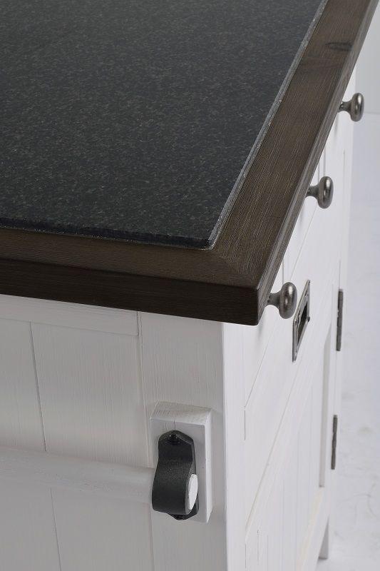 Nottingham Anretterbord - Hvid - Hvidt anretterbord med granit top