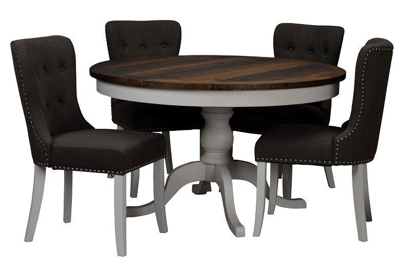 Nottingham Spisebord - Hvid - Ø130 - Hvidt Spisebord Ø130 cm