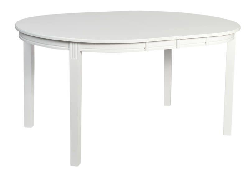 Wittskär Spisebord - Hvid - Hvidt spisebord med runde kanter