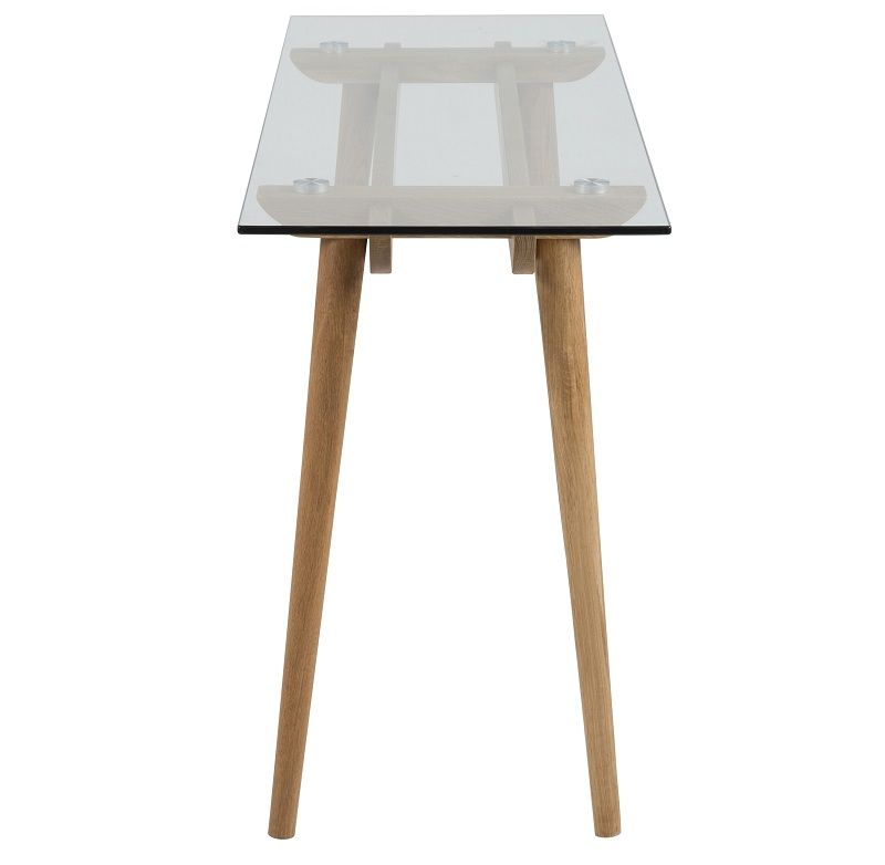 Sedan Konsolbord m/glastop - Stel i massiv eg - Konsolbord i massiv eg