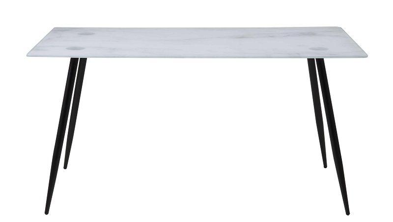 Selma Spisebord - Glas m. Sorte metalben - Spisebord med glasbordplade