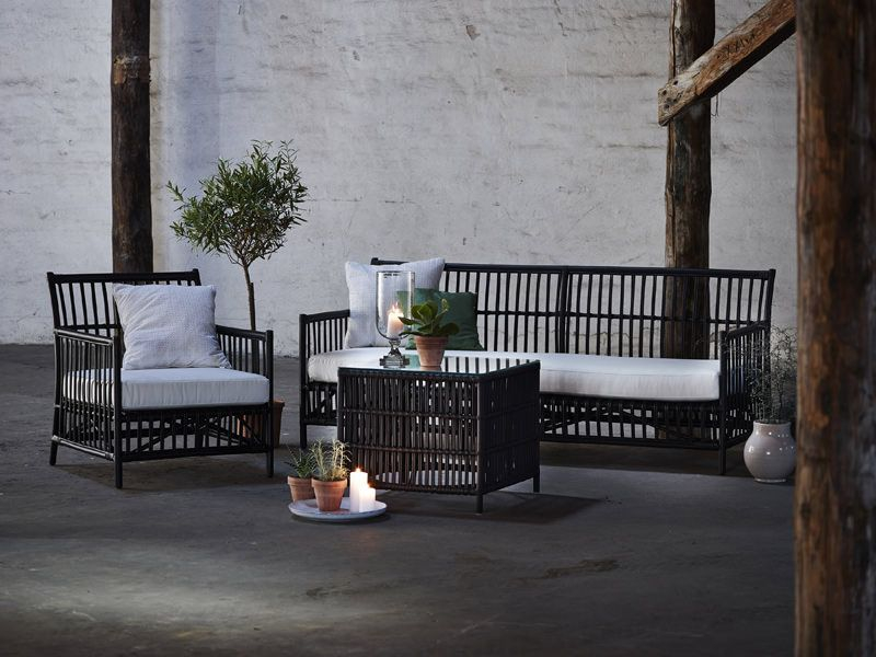 Sika-Design - Caroline Sofa - Rattan sofa med hvid hynde