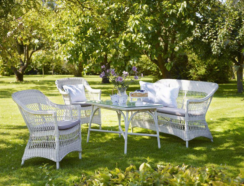 Sika-Design Charlot 2-pers Kurvesofa - Vintage White - Georgia Garden