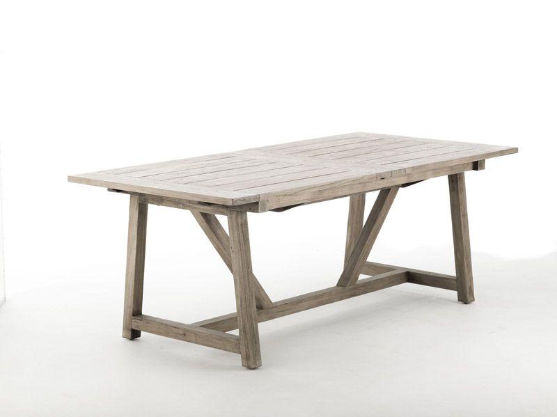 Sika-Design George Teak Havebord m. Udtræk, 200x100 - Teak fra Sika