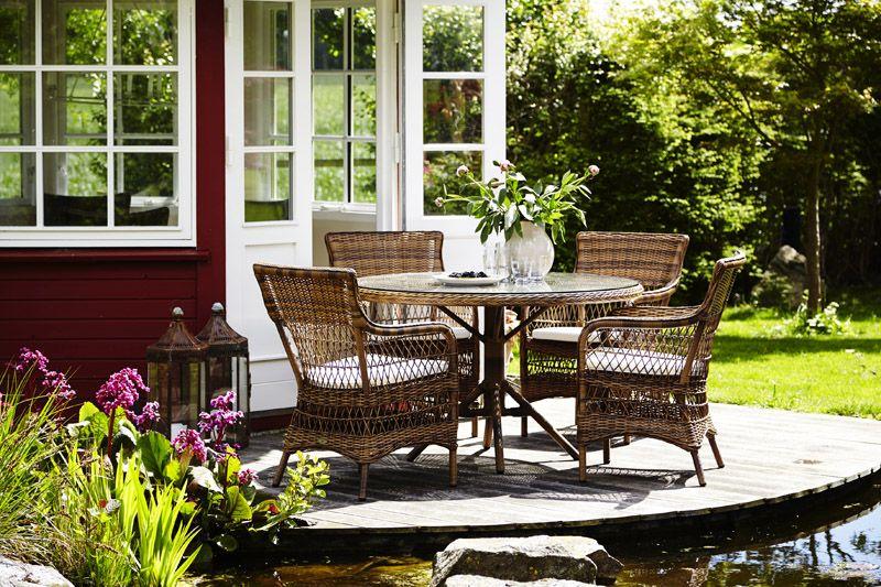 Sika-Design Grace Havebord - Brun Ø120 - Georgia Garden
