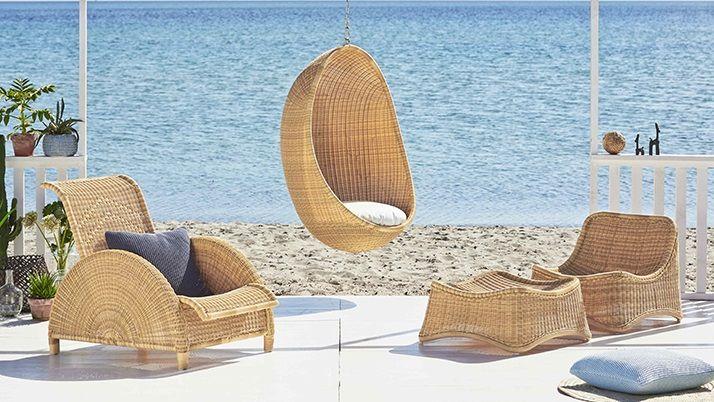 ICONS Chill Loungestol og skammel - Natur - Design - Nanna Ditzel