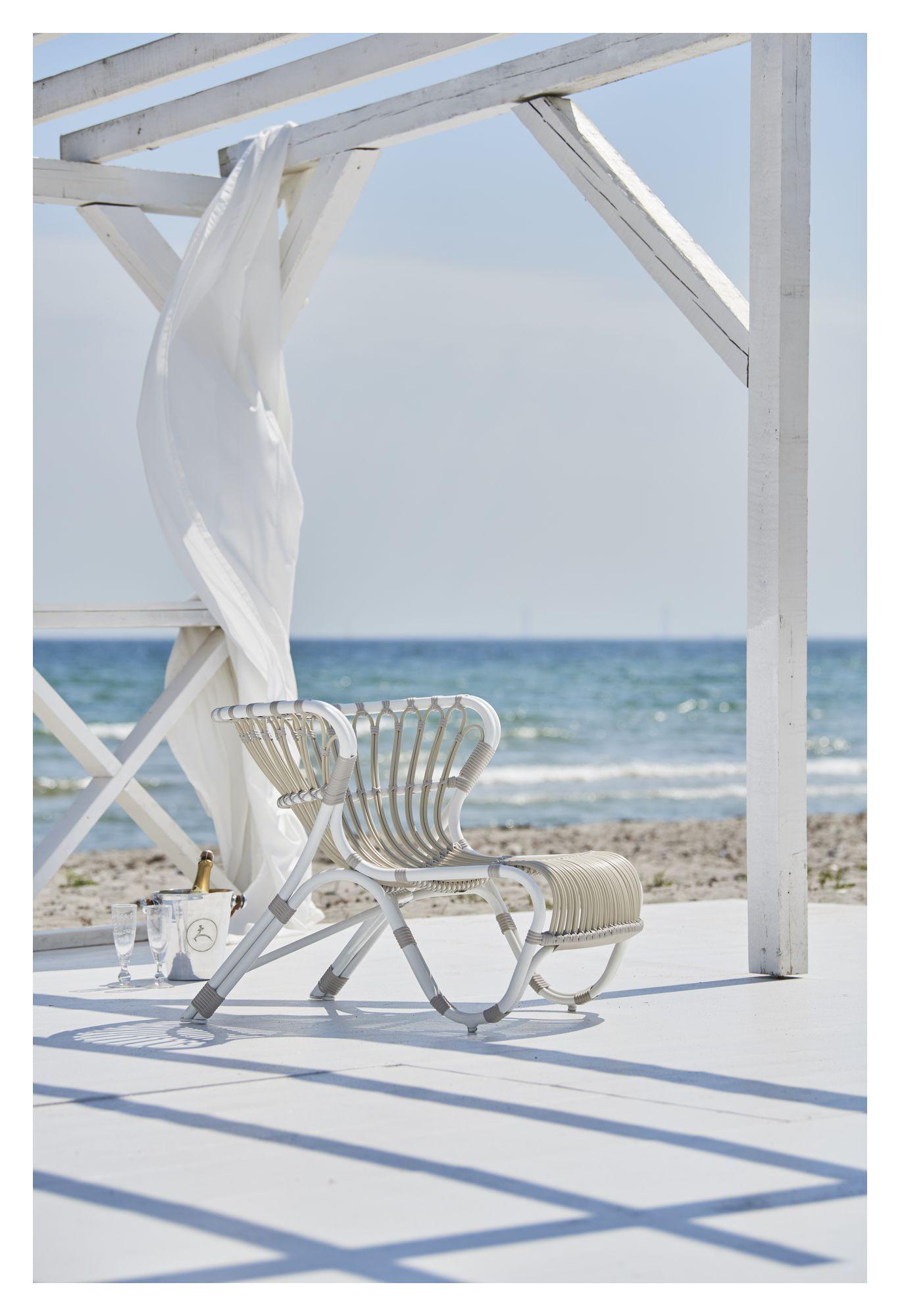 ICONS Fox Loungestol - Dove White - Design - Viggo Boesen