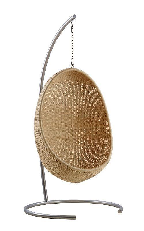 ICONS Hanging Egg Chair Indoor - Natur - Hængestol i rattan