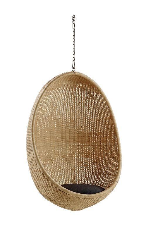ICONS Hanging Egg Chair Indoor - Hængestol - Natur - Hængestol i rattan