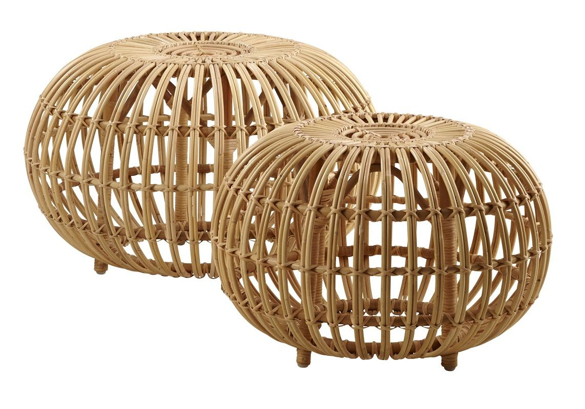ICONS Ottoman Stor - Skin-on natural - Stor puf i rattan