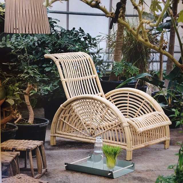ICONS Paris Loungestol - Skin on natural - Loungestol i naturligt rattan