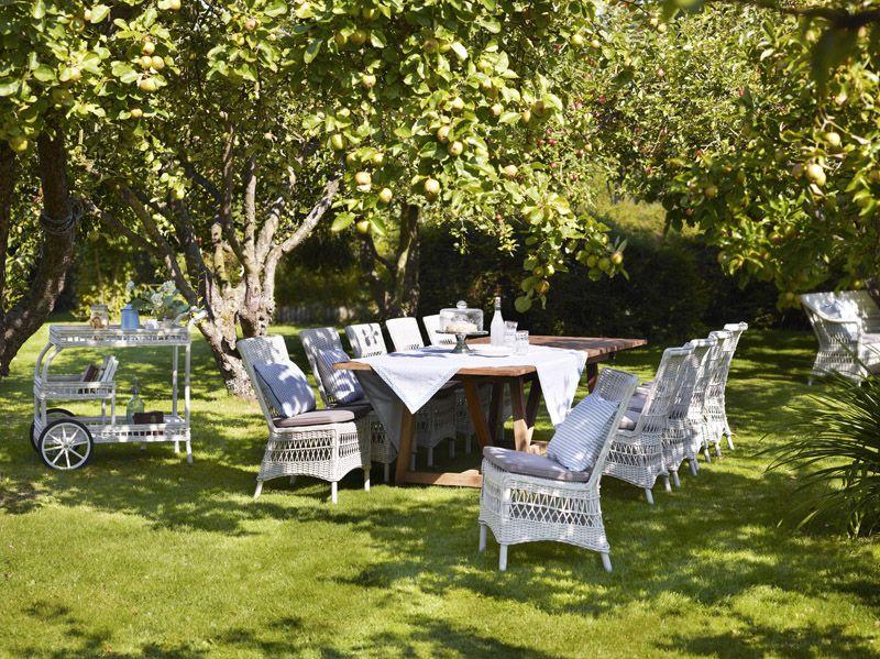 Sika-Design James Rullebord - Vintage White - Georgia Garden