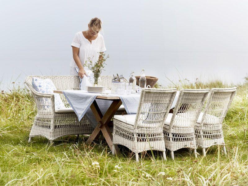 Sika-Design Marie Havestol - Hvid m. Hynde - Georgia Garden